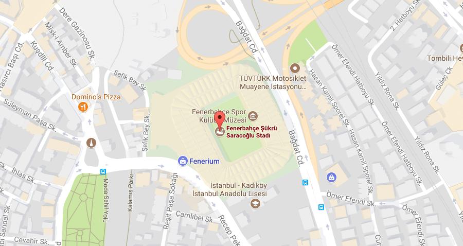Fenerbahçe Şükrü Saracoğlu Stadı Nerede, Nasıl Gidilir, Haritası